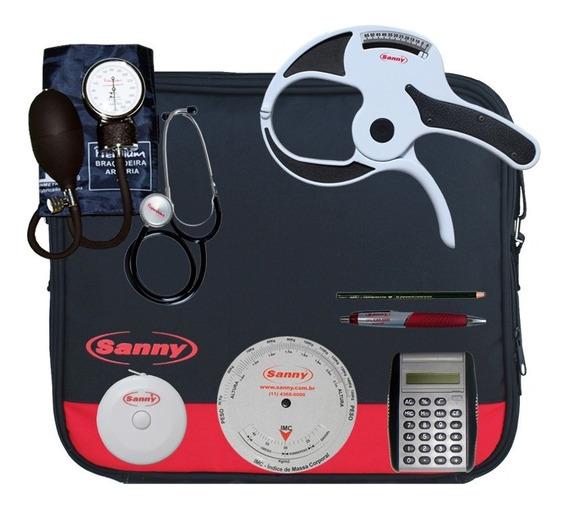 Kit Avaliação Física Com Adipômetro Sanny