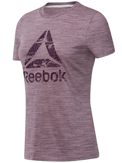 Remera Reebok Te Marble Logo Tee De Mujer