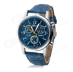 Relógio Masc.de Pulso Quartzo Azul (pronta Entrega).
