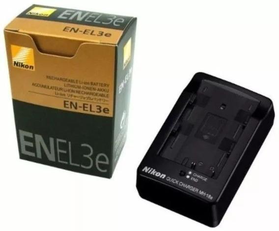 Bateria Nikon En-el3e + Carregador Mh-18a D50 D70 D80 D100