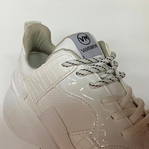 Tênis Via Marte Branco Croco 20-1301 Chunky Sneaker - Atitud