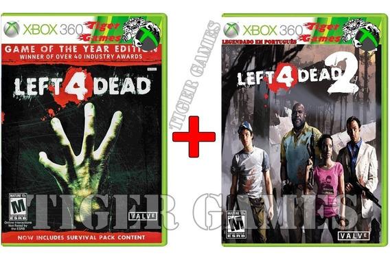 Left For Dead 1 E 2 Combo Xbox 360 2 Dvds Português