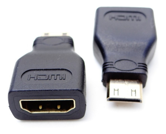 Adaptador Hdmi Fêmea / Mini Hdmi 3cm Gold Tablet Câmera
