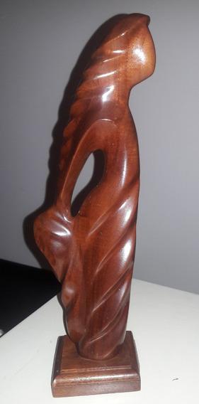 Escultura Madera Caoba Firmada Frank Coronado