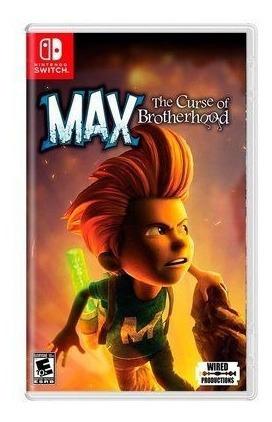 Jogo Max The Curse Of Brotherhood Nintendo Card Switch