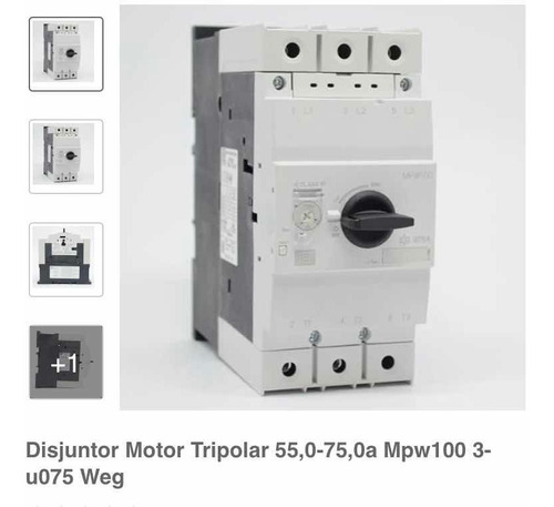 Imagem 1 de 4 de Disjuntor Motor Mpw100-3-u075