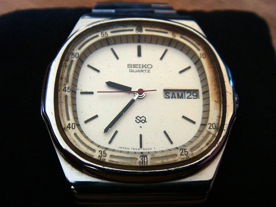 Clásico Reloj Vintage Seiko Quartz. Colección 80s.