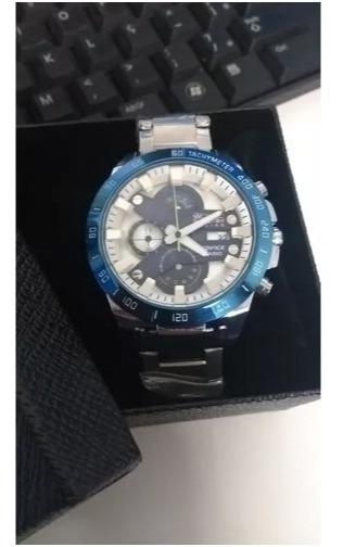 Relógio Casio Red Bull Azul E Branco