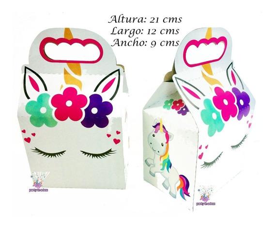 10 Cajas Unicornio Dulcero Fiesta Bolo Recuerdo
