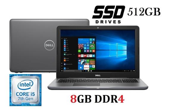 Notebook Dell I5 7ª Geração Ddr4/8gb/ssd512 Tela De 15.6