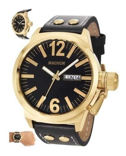 Relógio Magnum Masculino Preto/dourado Ma32783u