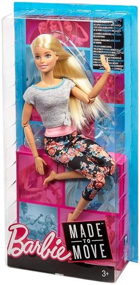 Barbie Made To Move Feita Para Mexer Loira Ftg81+brinde!!