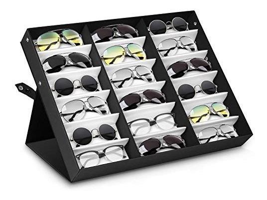 Estuche Lentes Organizador 18 Gafas Corbatas Relojes