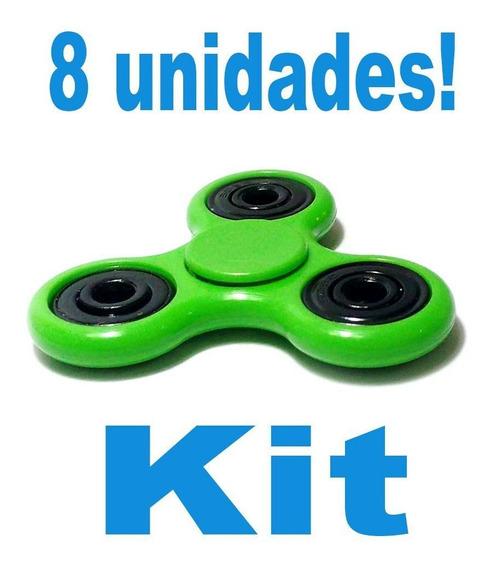Kit 8 Espiner Brinquedo Para Girar No Dedo Fazer Manobras