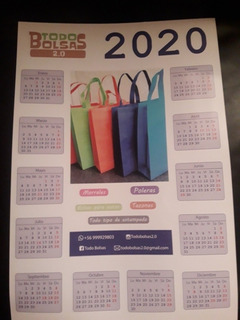 Calendario De Pared 2020 Formato 33cm X 48 Cm