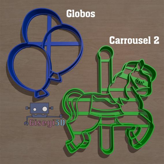 [solo Envio] Cortante Circo Carrousel Globos C/u