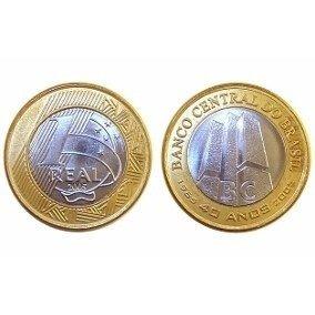 Moeda Comemorativa Banco Central Do Brasil 40 Anos 1 Real