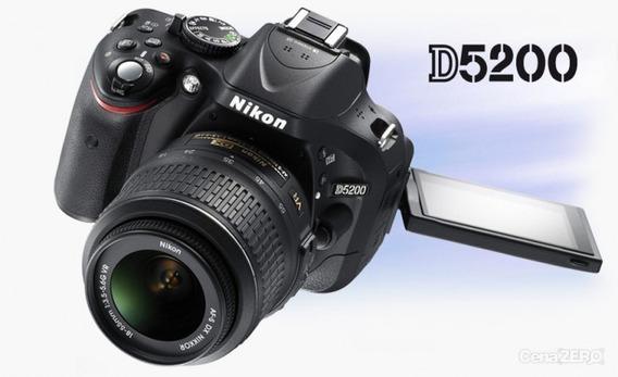 Nikon D5200 + Lente 18-55 + Bolsa + Cartão Sd 64gb + Brindes
