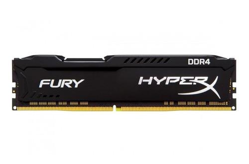 Imagem 1 de 3 de Memória RAM Fury DDR4 color Preto  16GB 1 HyperX HX426C16FB4/16