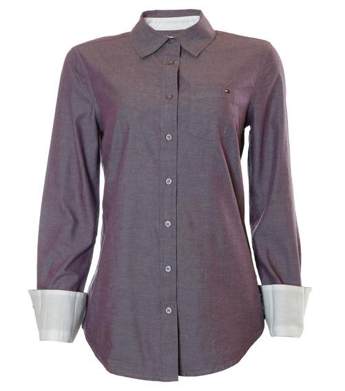Camisa Social Feminina Tommy Hilfiger Link Roxy