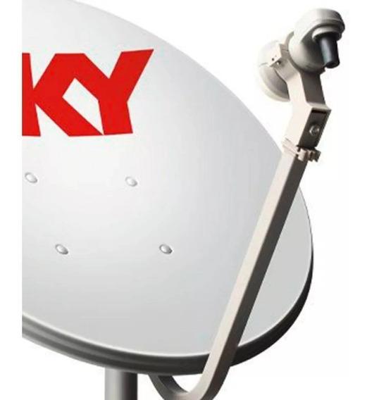Antena Parabólica 60cm=logo Sk+lnb Universal+parafusos+buch