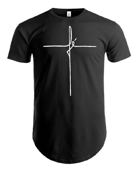 Camisetas Long-line - Camisas - Roupas - Original - Moda Evangélica - Linha Da Fé -long - Moda Cristã - Jesus - Gospel