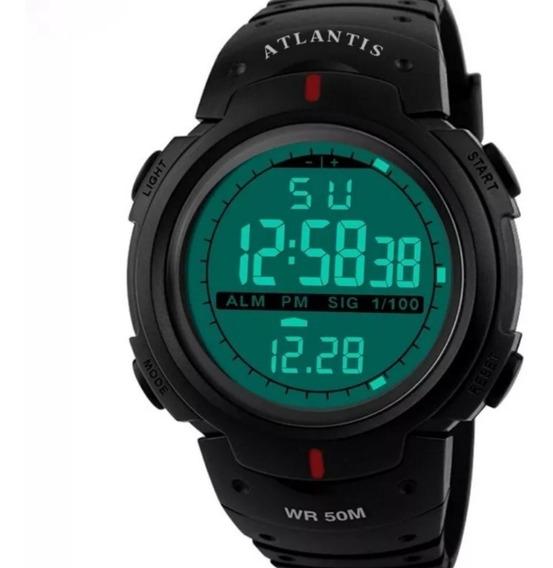 Relógio Digital Atlantis Cronômetro 7330g Corrida + Caixa...