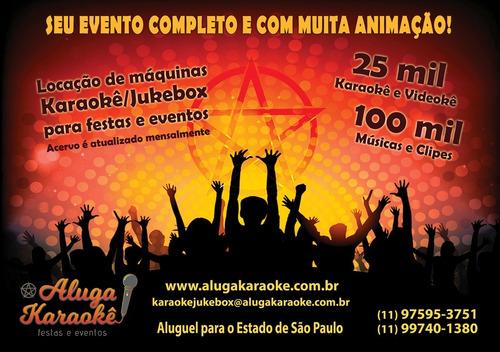 Locação De Karaoke/jukebox Para Festas E Eventos