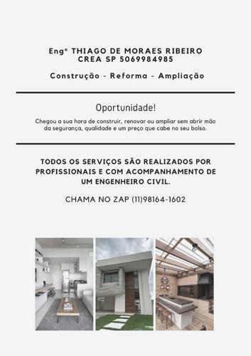 Imagem 1 de 5 de Construção, Reforma, Ampliação, Art, Recebimento Apto Novo