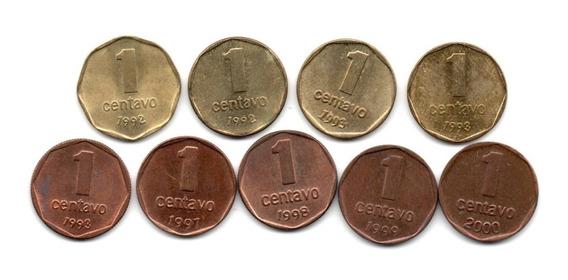 Lote Monedas Argentina 1 Centavo 1992 A 2000 Serie Completa