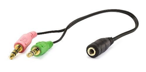 Cabo Adaptador P3 Femea Headset Para 2 P2 M Audio Microfone