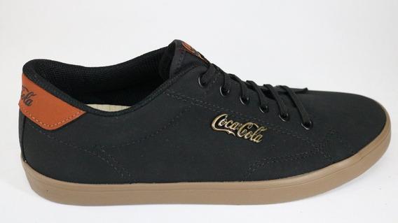 Tênis Coca Cola Cadarço Preto/marrom