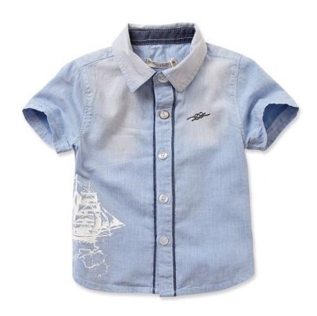 Camisa Algodón Orgánico Niño 4 Y 5 Años Velero Manga Corta