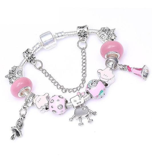 Pulsera De Moda Estilo Pandora Aurora Princesa Disney Br517