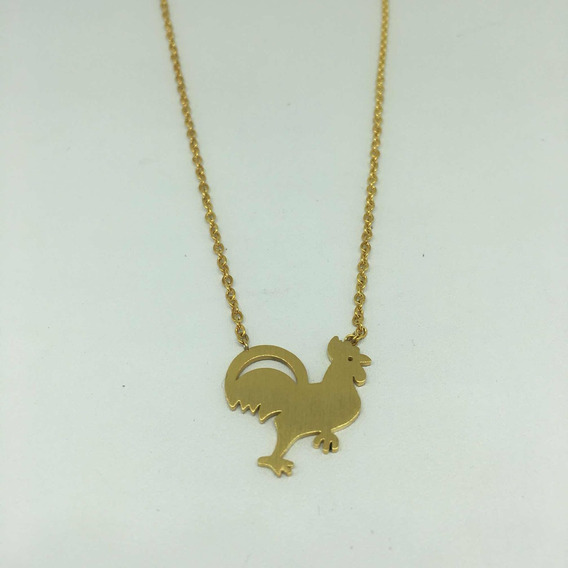 Collar Chapa De Oro