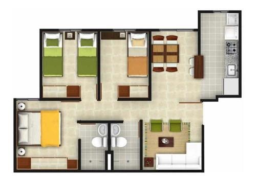 Ganga: Soacha San Mateo,3 Habitaciones,sala,comedor,cocina