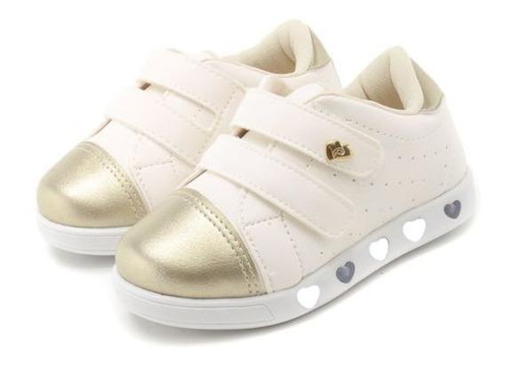 Pampili 165.053 Tênis Infantil Feminino Led Luz Sneaker