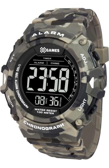 Relógio X-games Masculino Digital Xmppd488 Pxep Camuflado