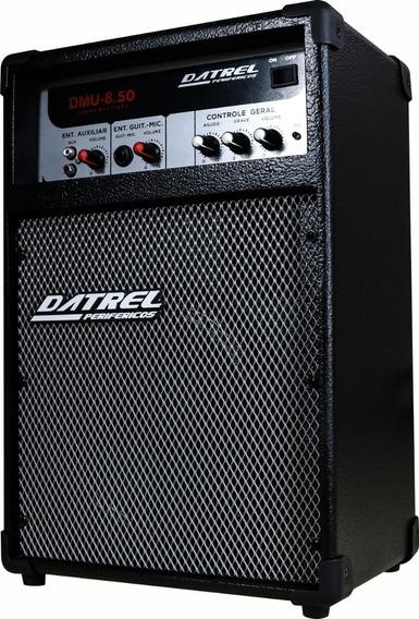 Caixa De Som Caixa Amplificada P/ Microfone Guitarra 50 Rms