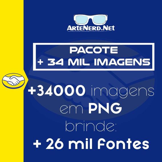 Pack Com 34.000 Imagens Em Png - Separadas Por Categorias