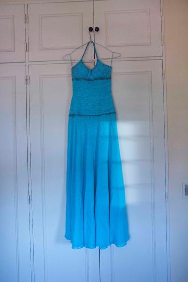 Vestido De 15 Color Turquesa, Gasa Bordado