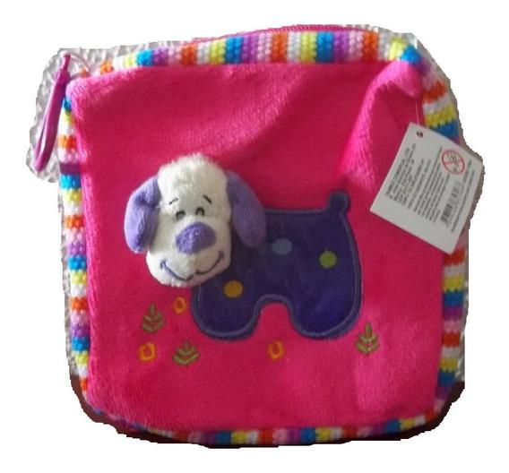 Bolsa Rosa Necessaire Com Cachorro