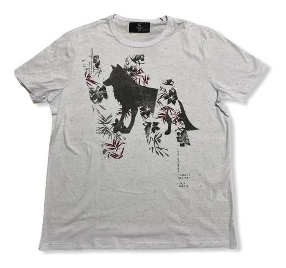 Camiseta Estampada Lobo