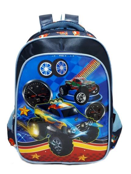 Mochila Escolar Infantil Costa Speedcar Porta Note - Media