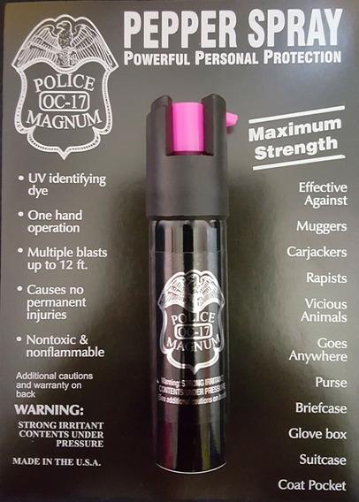 Spray De Gas Pimienta Lacrimogeno Para Defensa 3/4oz Clip