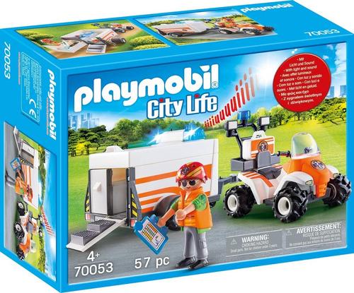 Playmobil City Life 70053 - Remolque Cuatriciclo De Rescate