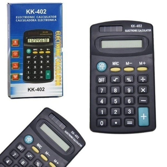 3x Calculadora Portátil De Bolso 8 Digitos Kk-402