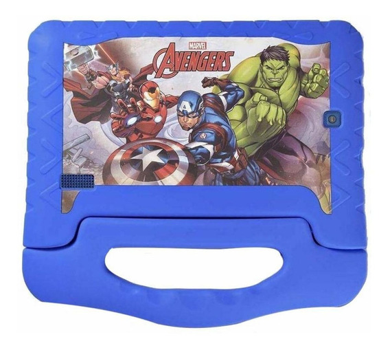 "Tablet Multilaser Disney Vingadores Plus 7"" 8GB azul com memória RAM 1GB"