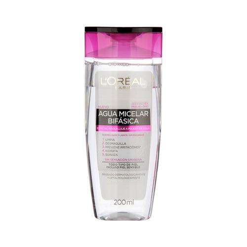 Imagen 1 de 2 de Agua micelar bifásica L'Oréal Paris Hidra Total 5 Waterproof 200ml