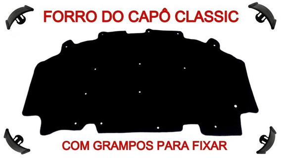 Forro Carro Chevrolet Capô Corsa !995 Á 2001 & Classic 2001 Até 2016 & Borda P. Antichamas Betuminoso